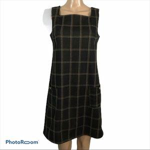 Dorothy Perkins pinafore plaid dress, EUC